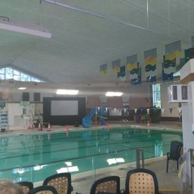 View of an indoor swimming pool